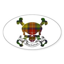 Buchanan Tartan Skull Decal