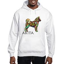 Glow Bright Akita Hoodie Sweatshirt