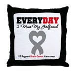 Brain Cancer Girlfriend Throw Pillow