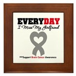Brain Cancer Girlfriend Framed Tile