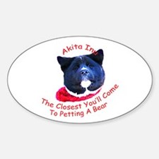 Petting a Bear Oval Decal
