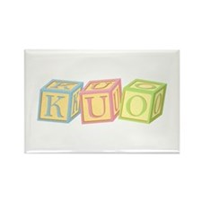 Kuo Family Baby Blocks Rectangle Magnet