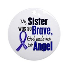 Angel 1 SISTER Colon Cancer Ornament (Round)