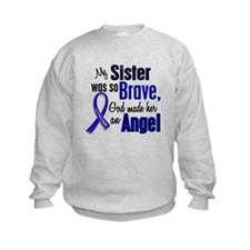 Angel 1 SISTER Colon Cancer Sweatshirt