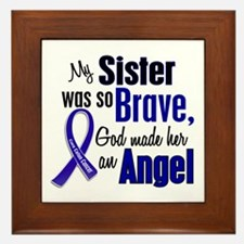 Angel 1 SISTER Colon Cancer Framed Tile