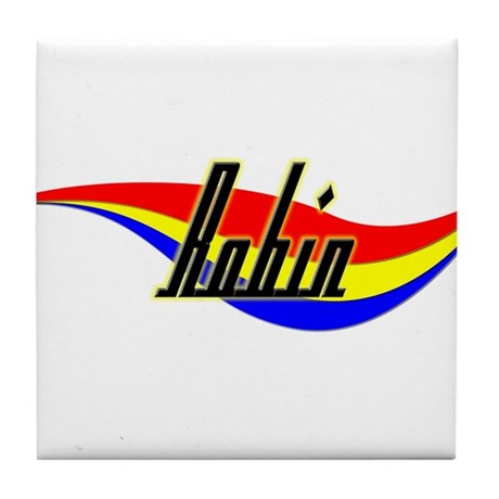 Robin's Power Swirl Name Tile Coaster