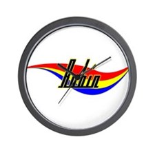 Robin's Power Swirl Name Wall Clock