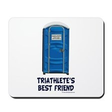 Triathlete's Best Friend Mousepad