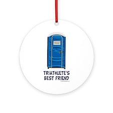 Triathlete's Best Friend Ornament (Round)