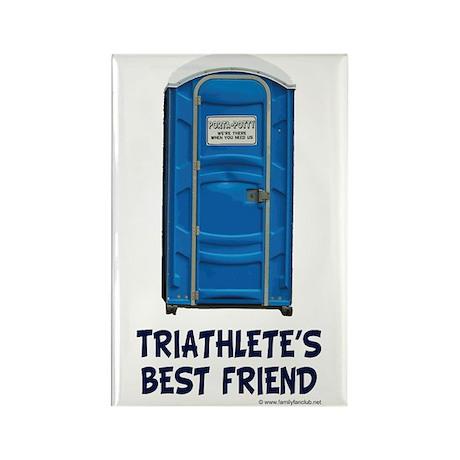 Triathlete's Best Friend Rectangle Magnet