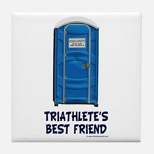 Triathlete's Best Friend Tile Coaster