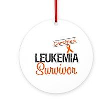 CertifiedLeukemiaSurvivor Ornament (Round)