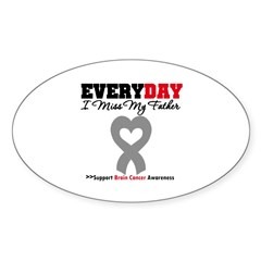 Brain Cancer Father Oval Decal