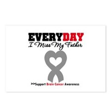 Brain Cancer Father Postcards (Package of 8)