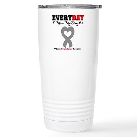 Brain Cancer Daughter Stainless Steel Travel Mug