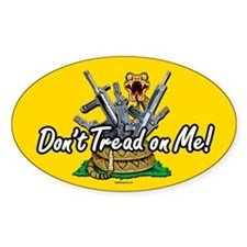 Don't Tread On Me! (2) Oval Decal