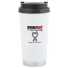 Brain Cancer Daddy Travel Mug