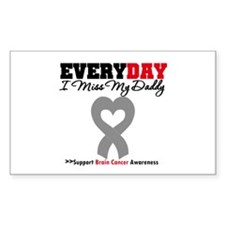 Brain Cancer Daddy Rectangle Decal