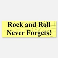 """R & R Never Forgets"" Bumper Bumper Bumper Sticker"