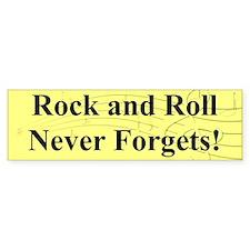"""""""R & R Never Forgets"""" Bumper Bumper Sticker"""