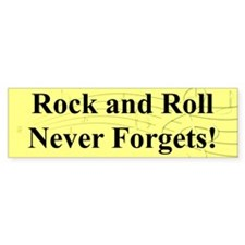 """R & R Never Forgets"" Bumper Car Sticker"