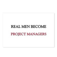 Real Men Become Project Managers Postcards (Packag