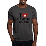 I Love Cajun Boys Dark T-Shirt