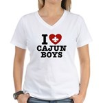 I Love Cajun Boys Women's V-Neck T-Shirt