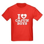 I Love Cajun Boys Kids Dark T-Shirt