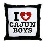 I Love Cajun Boys Throw Pillow
