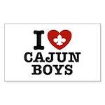 I Love Cajun Boys Sticker (Rectangle)