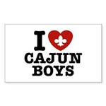 I Love Cajun Boys Sticker (Rectangle 10 pk)