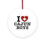 I Love Cajun Boys Ornament (Round)