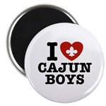 I Love Cajun Boys Magnet