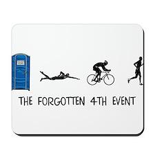 Rated E for Everyone Triathlon Mousepad