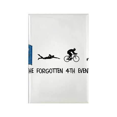 Rated E for Everyone Triathlon Rectangle Magnet