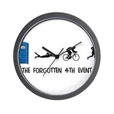 Rated E for Everyone Triathlon Wall Clock