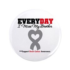 "Brain Cancer Brother 3.5"" Button (100 pack)"