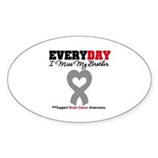 Brain Cancer Brother Oval Decal