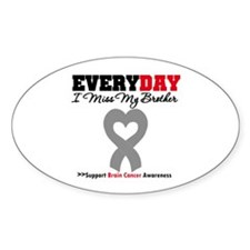 Brain Cancer Brother Oval Sticker (10 pk)
