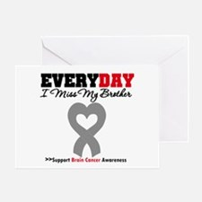 Brain Cancer Brother Greeting Card