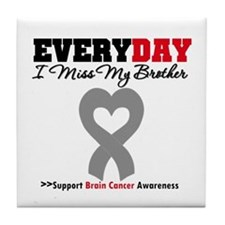 Brain Cancer Brother Tile Coaster