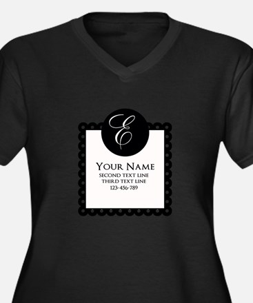 Personalized Texts Plus Size T-Shirt