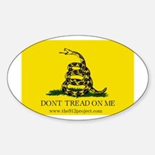 Don't Tread On Me Oval Decal