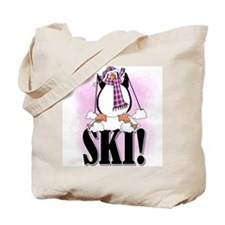 Penguin Ski Tote Bag