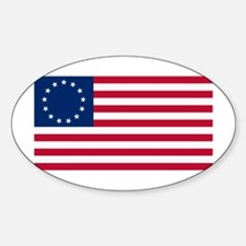 Betsy Ross Flag Oval Decal