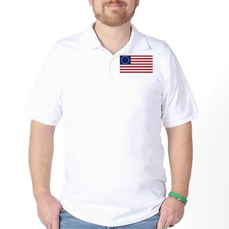Betsy Ross Flag Golf Shirt