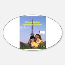 French Cheese Eating Surrender Monkeys Decal