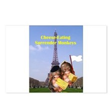 French Cheese Eating Surrender Monkeys Postcards (