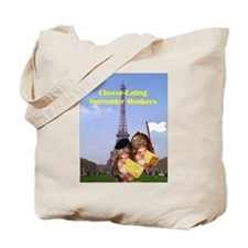 French Cheese Eating Surrender Monkeys Tote Bag